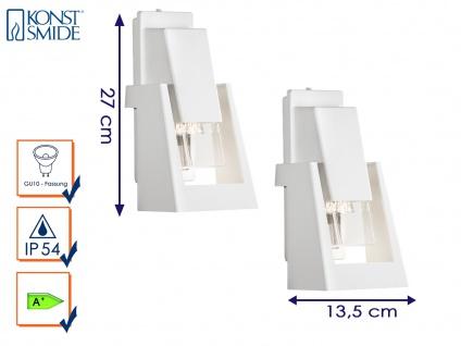 2er-Set Außenwandleuchte Wandstrahler Wandleuchte POTENZA, Alu weiß, GU10