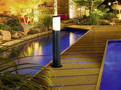 LED Wegeleuchte Außenstandleuchte Pfosten Gartenlampe in Anthrazit Höhe 50 cm