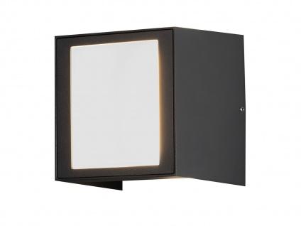 ALU LED Wandlampe in anthrazit für außen Lichtaustritt 0°-90° verstellbar IP54 - Vorschau 2