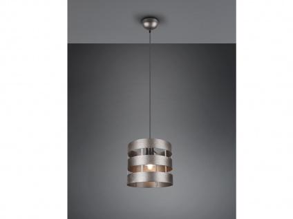 Kleine LED Pendelleuchte 1 Flammig mit Metallschirm Silber Ø25cm, Esstischlampen