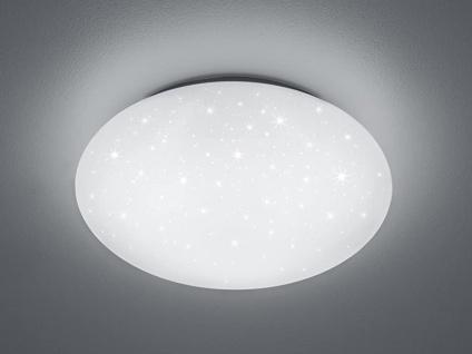 LED Deckenleuchte, Deckenschale PUTZ Sternenhimmel Kunststoff Weiß Ø 37cm IP44