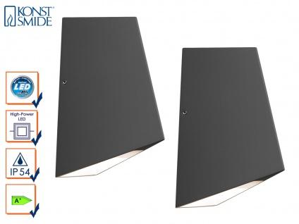 2er-Set Up/Down Außenwandleuchte IMOLA, anthrazit, 8W HP-LEDs IP54 - Vorschau 1