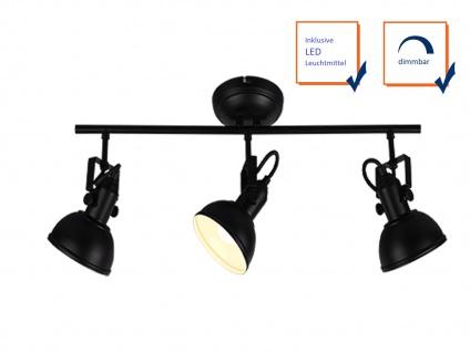 LED Deckenstrahler 3 flammig im Retro Look aus Metall in Kupfer dreh+ schwenkbar - Vorschau 3
