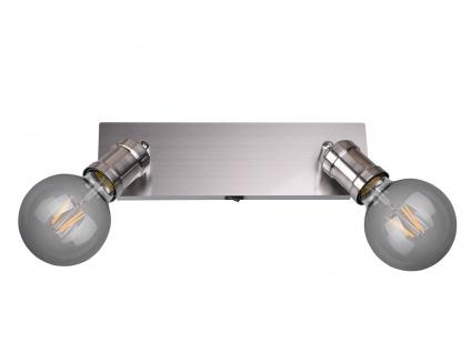 Moderner Wandstrahler für den Innenbereich mit 2 schwenkbaren E27 Spots Silber - Vorschau 2