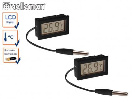 Kombi-Set digitale Einbau Thermometer mit Temperaturfühler, Temperaturkontrolle