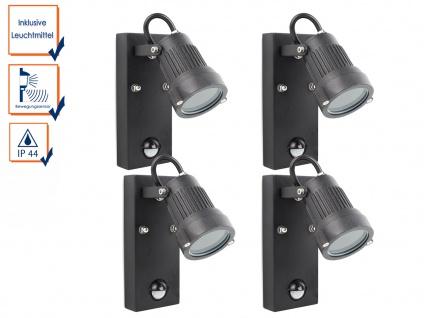4er-Set Außenwandleuchte mit Bewegungssensor, inkl. 3 Watt LED, 230 Lumen, 3000K