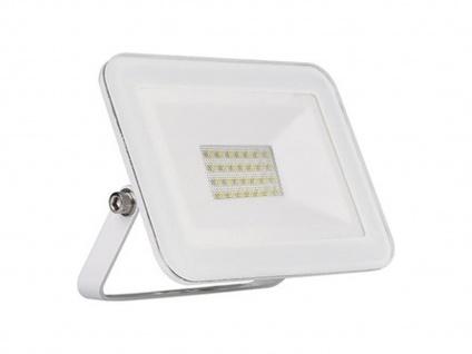 Flacher 10W LED Außenfuter weiß - Scheinwerfer Flutlichtstrahler für Haus Garten