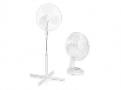 Weißes Set Tischlüfter & Standlüfter oszillierend Ventilatoren Luftkühler leise