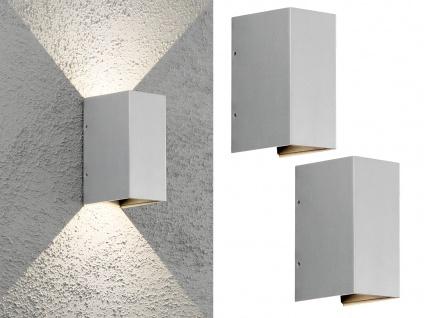 2er SET ALU LED Außenwandlampen in Grau für draußen & innen UP and Down IP54