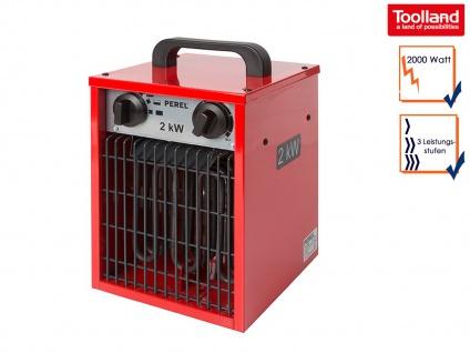 Bauheizer Heizstrahler mit 3 Stufen, Ventilator & Thermostat, Baustellenheizung