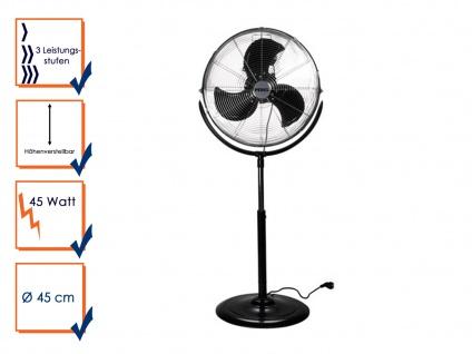 Velleman Perel Standventilator Ventilator Ø45cm 3 Stufen neigbar 45W