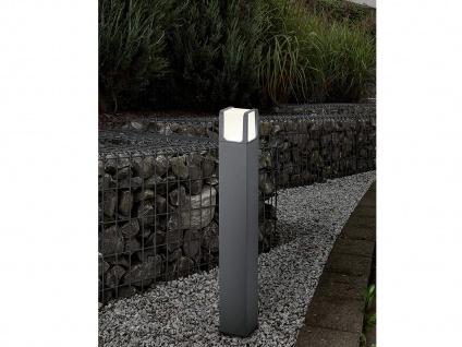 LED Wegeleuchte, Pollerleuchte aus ALU in anthrazit für außen IP54, Höhe 80cm