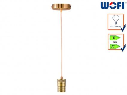Vintage Schnurpendel Messing Zylinderform für Hängelampe E27 60W, Suspension