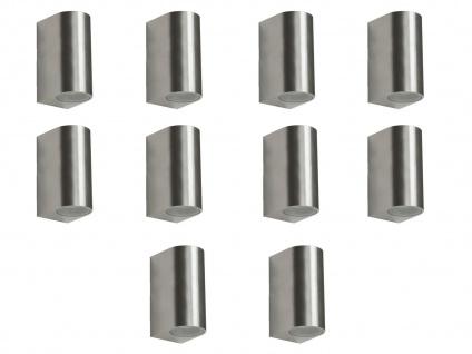 10er Set LED Wandleuchte Metall, up/downlight, 160Lm, warm, IP44