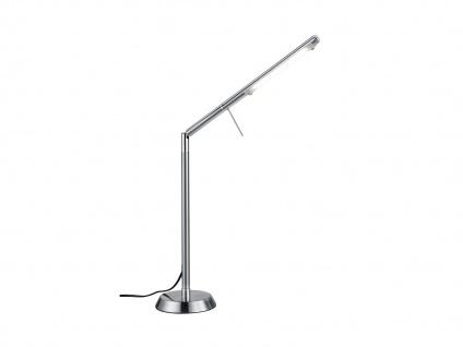 Ausgefallene stufenlos dimmbare LED Schreibtischlampe 85 cm hoch in Nickel matt - Vorschau 2