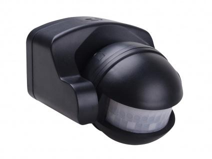 Aufputz Bewegungsmelder schwarz 8m/180°, Lux und Zeitintervall einstellbar - Vorschau 2
