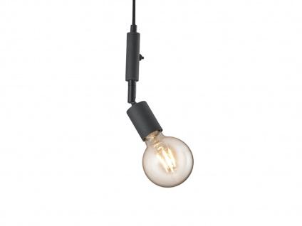 LED Pendelleuchte Schwarz mit Stecker für Steckdose 6m langes Kabel Hängelampen - Vorschau 5