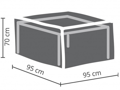 Gartenmöbel Schutzhülle Abdeckung für Hocker, 95x95cm, Folie witterungsbeständig - Vorschau 2