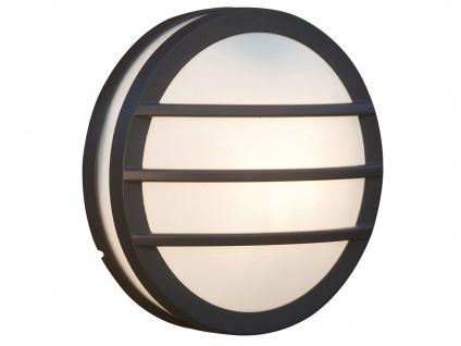 Design Außenwandleuchte Ø26cm Druckguss Aluminium IP54 E27 Fassung Wandleuchte - Vorschau 2
