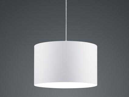 Runde LED Pendelleuchte mit Stoffschirm Weiß - Hängeleuchten für Esstisch Lampen - Vorschau 4