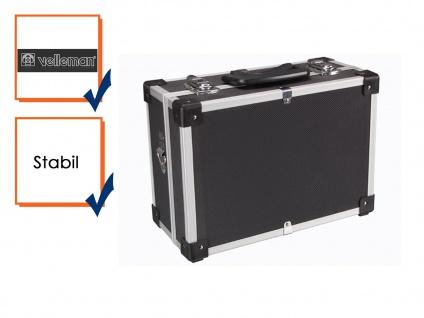 Werkzeugkoffer Werkzeugkasten Perel Aluminum Case 32x23x15, 5 cm schwarz