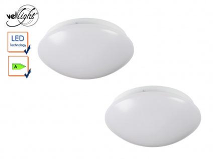 2Stk. LED Deckenleuchten rund Deckenlampen weiß 22, 5cm, Deckenbeleuchtung Flur