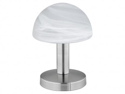 Touch Nachttischlampen mit Glasschirm weiß - dimmbare Leuchten fürs Schlafzimmer - Vorschau 2