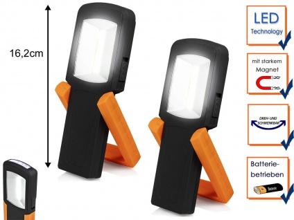 2x LED Handlampen Taschenlampen mit Stativ Magnet Haken - Multifunktionsleuchten
