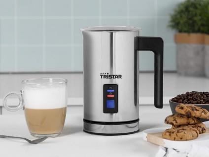 Elektrischer Edelstahl Milchaufschäumer für kalte & warme Milch, Latte Macchiato