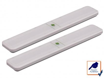 2er SET LED Unterbauleuchten mit Touchfunktion Lichtleisten Schrankleuchten