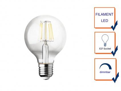 Filament LED dimmbar E27 Leuchtmittel Vintage Klares Glas 7 Watt 806 Lumen 2700K - Vorschau 3