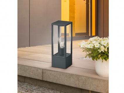 Außensockelleuchte in Anthrazit eckige Laterne Outdoor Stehlampen für den Garten