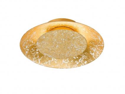 Runde Design LED Deckenlampe SHINE Farbe gold, Ø 21, 5cm, Samsung LED, Fischer