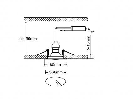 3 Einbaustrahler Decke eckig schwenkbar Chrom glänzend GU10 LED Deckenleuchten - Vorschau 5