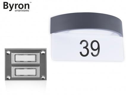 Set: 2Parteien Klingelplatte Taster + LED Hausnummernleuchte Dämmerungssensor