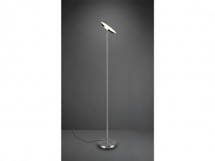 LED Deckenfluter PONDA variabel verstellbar Silber Sensor Dimmer, 179cm Ø28cm