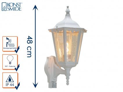 Wandleuchte mit Bewegungsmelder Aussenwandleuchte Wandlampe weiss