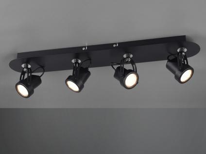 RETRO Deckenstrahler 4-flammig Schwarz LED Beleuchtung Flur, Diele & Treppenhaus