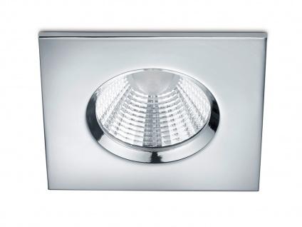 LED Einbaustrahler Decke eckig dimmbar Chrom glänzend 5, 5W Deckenbeleuchtung