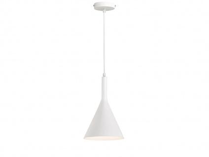 LED Pendelleuchte 18, 5cm in Weiß, Hängelampe für die Küche, Leuchtmittel dimmbar