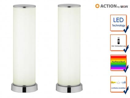 2x LED Tischleuchte Fernbedienung Lichtfarbe Dimmer & Farbtemperatur Partylicht