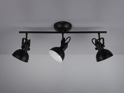 Deckenstrahler 3 flammig im Retro Look aus Metall in Schwarz dreh-und schwenkbar - Vorschau 5