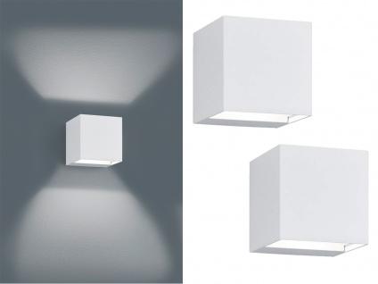 LED Außenwandlampe Kubus 2er Set UP and DOWN Weiß Außenbeleuchtung Haus & Garten