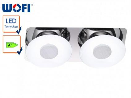 LED-Deckenleuchte, Chrom / Metall weiß lackiert, Wofi-Leuchten - Vorschau 1