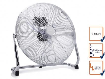 Bodenventilator Ø 50cm 120W 3 Stufen Gebläse Windmaschine Luftkühler Lüfter