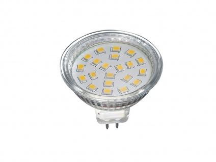 GU5.3 Fassung mit 3W LED Leuchtmittel mit 260Lm warmweiß nicht dimmbar Reflektor