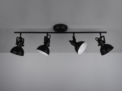 Deckenstrahler 4 flammig im Retro Look aus Metall in Schwarz dreh-und schwenkbar - Vorschau 5