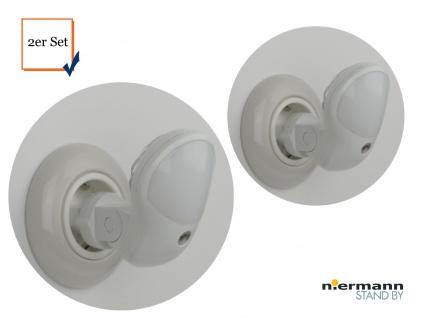 2 Stück LED-Nachtlampe schwenkbar mit Farbwechsler Dämmerungssensor Notlampe