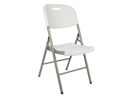 Klappstuhl weiß, Campingstühle klappbar, Balkonstühle , Gartenstühle - Vorschau 2