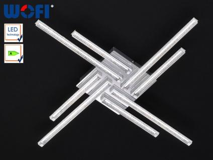 LED Deckenleuchte, Chrom / Acrylgas mit Bläschen, Wofi-Leuchten